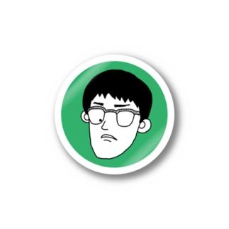 自画像(緑) ステッカー