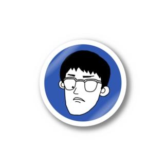 自画像(青) ステッカー