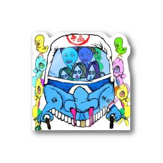 めちゃかわ福ハナマシン Stickers