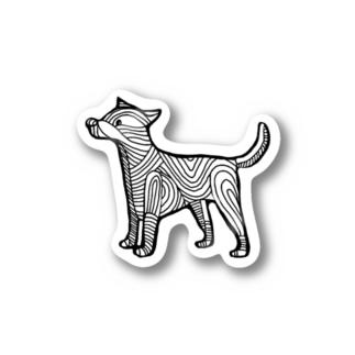 犬吉 クロ ステッカー