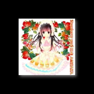 有坂愛海ショップのStrawberry warS  EMI ARISAKA ステッカー
