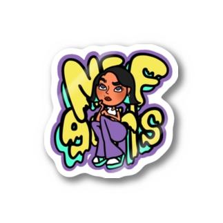 NEF girls Momo Sticker