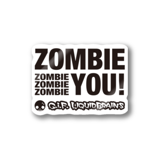KohsukeのZombie You! (black print) Stickers