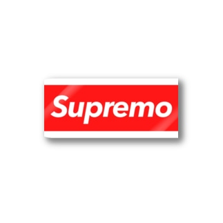 Supremo red Stickers