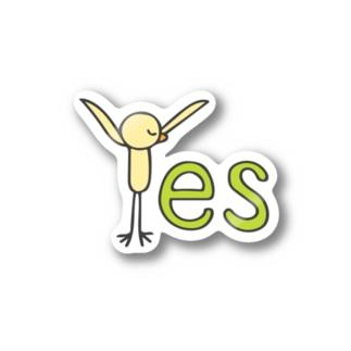 スタイリッシュなYes Stickers