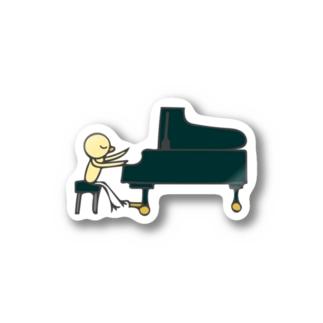 ひよこグランドピアノ Stickers