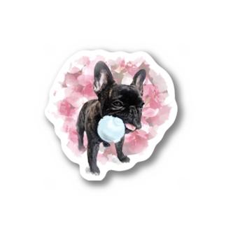 フレブル ブリンドル ボール渡さない Sticker