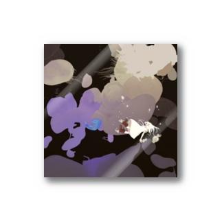 クラゲと女の子ステッカー Stickers