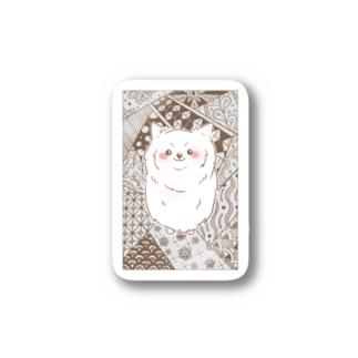 ゼンタングル 日本スピッツ Sticker