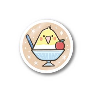 オカメごおり(ブラウン) Stickers