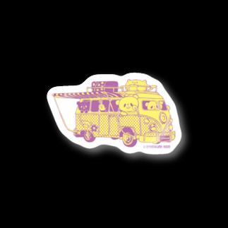おやまくまオフィシャルWEBSHOP:SUZURI店のドライブおやまくま ステッカー