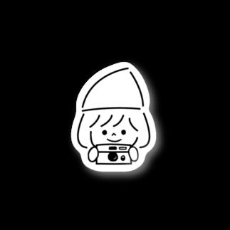 nikoのニット帽かぶってますステッカー