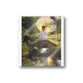 リラ・キャボット・ペリー 《日本庭園で》 Sticker