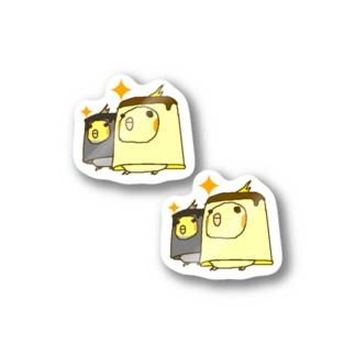 プリンインコ Stickers