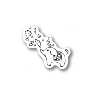 ゾウさんとお花 Sticker