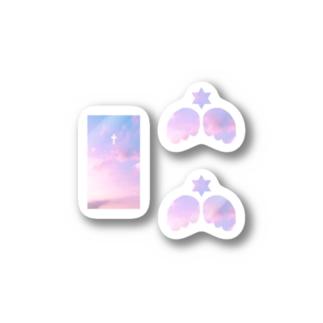 天国の天使みたい。ステッカーセット Stickers