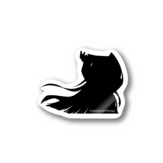 HTMLちゃん シルエットver Stickers