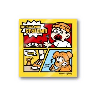 PIZZA COMICS STICKER Sticker