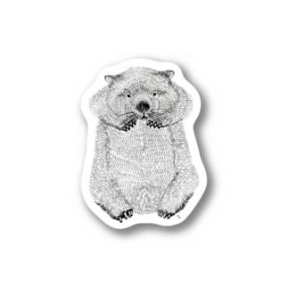 wombat(ペン画) Sticker
