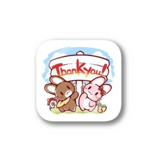 ハッピーサンキューステッカー Sticker