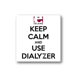 Erlang - Keep Calm and Use Dialyzer Stickers