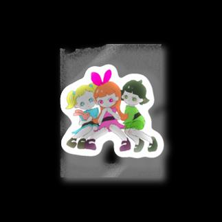 栞里のパワーパフガールズ自分流 Stickers