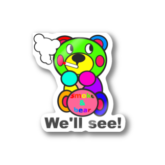 オリジナルデザインTシャツ SMOKIN'の一服モクモックマ  カラフル オリジナルアイテム  Stickers