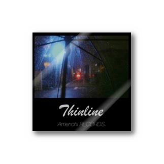 Amenohi RECORDS.「Thinline」 Sticker