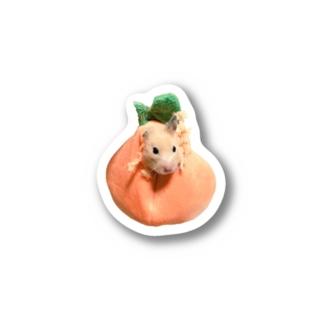 柿になった椿さん ハムスター かきつばき Stickers