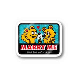 MARRY ME ステッカー