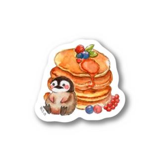 ペンギンさんとパンケーキ ステッカー