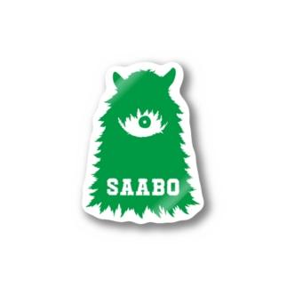 SAABO_FUR_ForestMan_L_G Stickers
