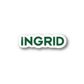 INGRID緑ロゴ Sticker