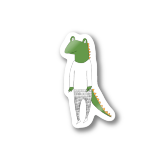 Tommy_is_mozukuのcrocodile カラーバージョン Stickers