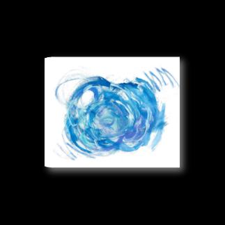 yakusasakuyaのブルーの花ステッカー