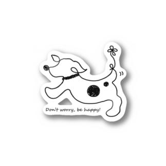 hitofudegaki-DOG(雑貨) Sticker