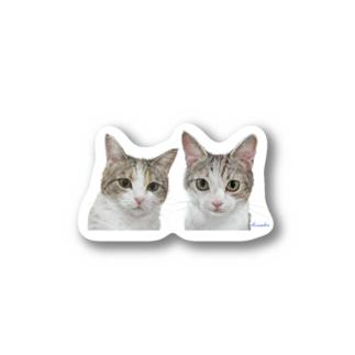 チャビー君とジェミーちゃん 背景なし2 Stickers