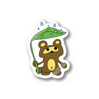 おタヌキ Stickers