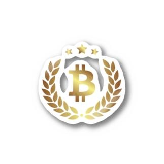 gold BTC Stickers