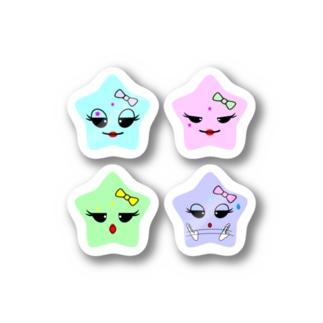 ☆さん 4 (星・4)(ステッカー) Stickers