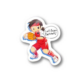 naoko a.k.a 2exの野手01(文字あり) Stickers