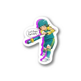 バッター01(文字あり) Stickers