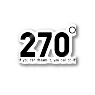 270度 Stickers