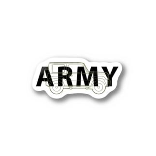 U.S.ARMYなジムニー Sticker