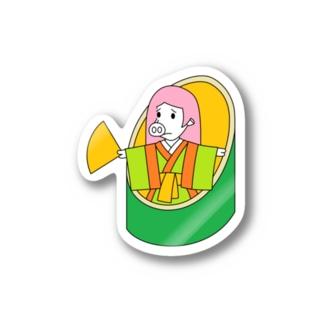 武竹取物語(ぶたけとりものがたり) Sticker