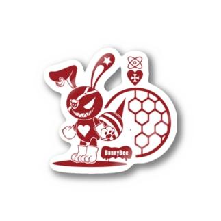 バニービー・アイパッチ/レッド Stickers