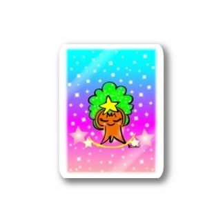 虹色もくもくモックン Stickers