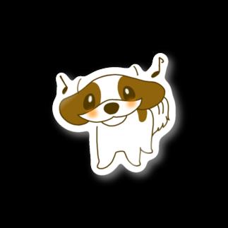 小さな犬のルーのメリーの「うきうき」ステッカー Stickers