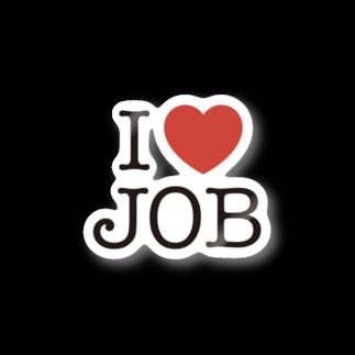 SQUID_INKのI LOVE JOB Stickers
