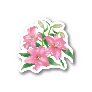 ピンクの百合 Sticker